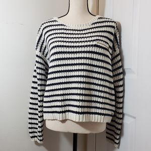 Tommy Hilfiger blue and cream striped sweater